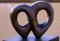 Love - Two hearts are intertwined, signifying eternal harmony and unity